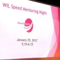 WIL Hosts Speed Mentoring Event