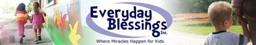 Everyday Blessings Organization Logo With Pictures of Children