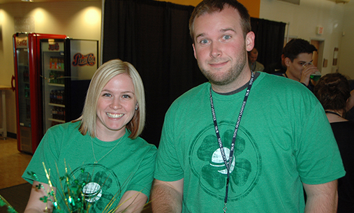 TQL Employees In Their Matching St. Patricks Day TQL Shirts