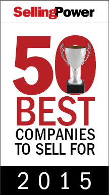 Selling Power 50 Best Companies to Sell For 2015 graphic