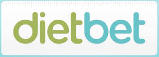 DietBet Logo With A Blue Boarder And White Background