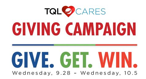 TQL Cares Logo With A Slogan Below And Dates
