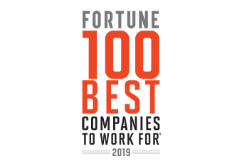2019 winner - Fortune 100 Best Companies to work for